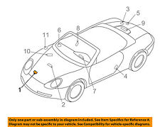 PORSCHE OEM 00-04 Boxster Labels-Caution Sticker 98670128724