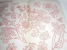 Vintage Embroidery Iron on Transfer -  Jacobean - Flowers
