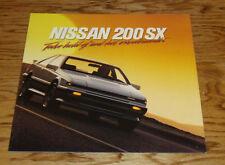 Original 1987 Nissan 200SX Deluxe Sales Brochure 87 XE SE