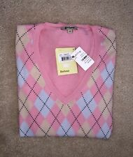 NEW NWT Barbour Orvis Womens Size 14 Fine Cotton Pink Sweater Pullover, $119