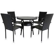 Charles Bentley 4 Seater Amalfi Rattan Dining Set Outdoor Garden Furniture Grey