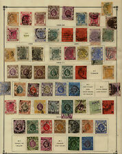 Hong  Kong      early  stamps    lot on album page              KEL1204