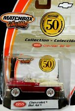 1955 Chevy Convertible. Matchbox 2001, 50th Anniv Collection.Metallic Red/White