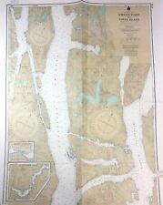 Vtg 1973 BRITISH COLUMBIA Coastal Wilderness NAUTICAL CHART Canada MAP KLEMTU