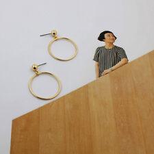 Large Ring Hoop Earrings L Fashion Women Metal Circle Smooth