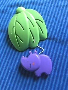 Fisher Price Luv U Zoo Jumperoo Hanging Rhino Toy  Replacement Part