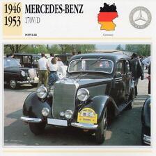1946-1953 MERCEDES BENZ 170 V/D Classic Car Photograph / Information Maxi Card