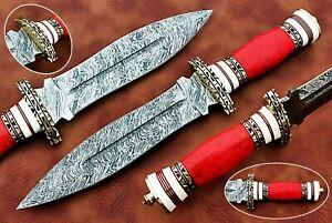 CUSTOM HANDMADE D2 STEEL HUNTING DAGGER KNIFE
