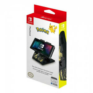 Hori Nintendo Switch Playstand Console Stand Pokemon: Pikachu Black & Gold