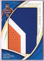 FRANK NTILIKINA RC 2017-18 IMMACULATE COLLECTION JERSEY NUMBER PATCH #33/75