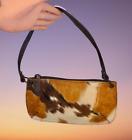 Fina Firenze Brown CALF HAIR & Leather Shoulder Handbag Cowgirl Western