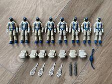 1985 Hasbro GI JOE Cobra Polar Assault Snow Serpent Lot 8 x G.I. Army Builders