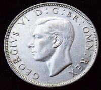 1945 King George VI Silver Half Crown high grade coin KM# 856