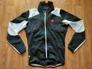 Castelli Men's Gore Windstopper Cycling Jacket Black/White Size: M NEW !
