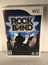 Rock Band (Nintendo Wii, 2008) complete w/ manual