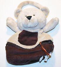 "Ganz Zip & Stows Puppy Dog 9"" Plush Stuffed Hand bag Purse HB302"