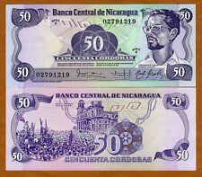 Nicaragua, 50 cordobas, L. 1984 (1985), Pick 140, F-Serie, UNC