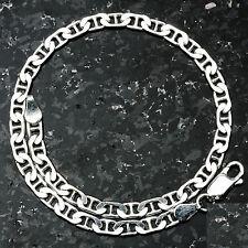 "Mariner 100-8"" 4mm 5.5 Gram Italian Link .925 Sterling Silver Bracelet 8"""