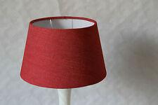 Lampenschirm Aufsteckschirm Stoff  rot   325A