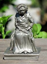 Vintage Franklin Mint Pewter Sep Series 1788-1797 Portrait Sitting Woman Seated