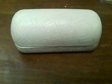 Oakley Sunglasses Hard Case Clamshell Off White Large Logo Embossed Clean
