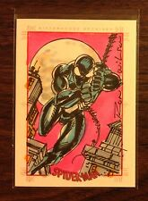 Black suit Spiderman Spider-Man Archives color sketch card 1/1 Ron Wilson