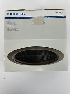 "KICHLER 6"" Recessed Light Lighting Olde BRONZE Flat Trim Kit & Black Baffle"