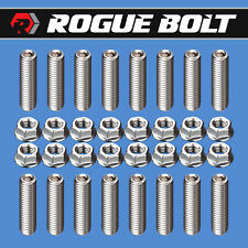 Bbc Header Stud Kit Bolts Stainless Steel Big Block Chevy 396 402 427 454 502 Gm