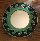"""BALI WAVE MIRROR 16"""" Hand Carved & Painted NEW Green"""