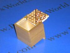 2 Sun 2 Step Yosegi & Natural Wood Japanese Secret Trick Box- NEW!
