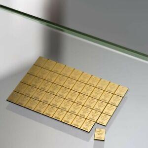 LINGOTE DE 1 G (GRAMO) DE ORO 24 KT (24K, QUILATES, KILATES) 999.9 Gold Degussa