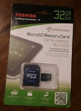 Toshiba 32GB MicroSD me more card with adapter