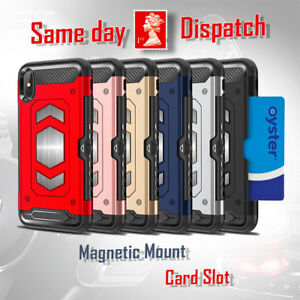 iPhone 5 6 7 8 X Xs XR 11 Shockproof Magnetic Car Mount Card Holder Case Cover
