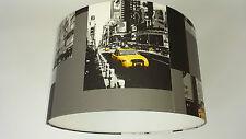 New York/Yellow Taxi Wallpaper  Lamp shade ..(Black/yellow) Handmade.