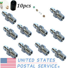 """10pcs 1/8"""" Npt Male Quick Connect Plug Nipple Fitting Adapter Paintball Us"""