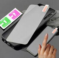 Samsung Galaxy A71 Hülle Silikon Dark Case Tasche Cover Bumper + 9H Schutz Glas