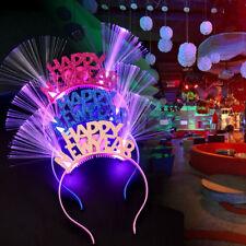 HAPPY NEW YEAR LED FLASHING HAIR HOOP LUMINOUS CHRISTMAS HEADBAND ALLURING