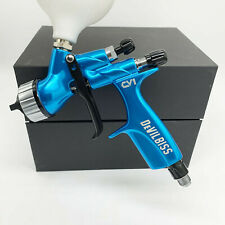 Devilbiss Cv1 Hvlp 13mm Nozzle Car Paint Tool Pistol Spray Gun Blue