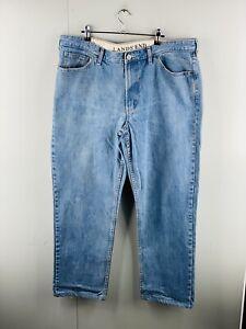 Lands' End Men's Zip Close Relaxed Fit Denim Jeans Size 40 Blue