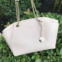 NWT Furla Julia Medium Leather Tote Bag Magnolia (Light Pink)