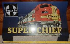 Older Club Car Golf Cart Window Shield Accessory Santa Fe Train Super Chief