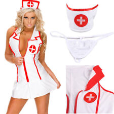 Christmas Nurse Cosplay Underwear Women Sexy Nightwear Lingerie Babydoll Dress