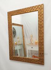 "John Lewis Gold Mosaic Wall Mirror Wood Frame Bevelled 106x76cm (42""x30"""