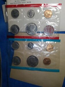 1971 S and D US Mint Uncirculated Complete Set
