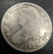 1829/7 Capped Bust Half Dollar Very Fine VF+ or Extremely Fine Rare Overdate