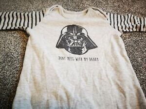 Star Wars Darth Vader Don't Mess With My Daddy Baby Sleepsuit 9-12m
