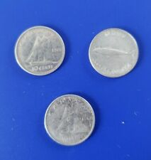 CANADA COIN LOT 10  CENTS  SILVER  COINS  DIME 1966-1967-1968