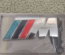 Metal Silver M BADGE BMW Performance Emblem Logo M POWER SPORT BOOT
