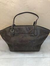 Grey Leather Genuine Hobo Handbag