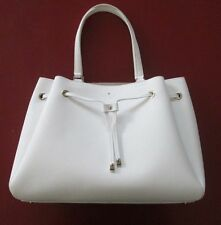 Kate Spade Cape Drive Lynnie Drawstring Tote White Leather MSRP $348